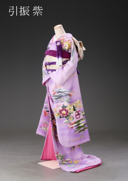 市川店/黒引き振袖 紫