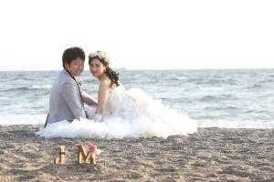 憧れの海でドラマチックな撮影を。 いなげ・検見川の浜