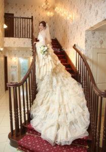 Wedding Story松戸店の和洋装スタジオ2着プランの撮影です。