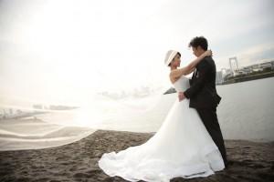 白い砂浜が魅力...お台場海浜公園