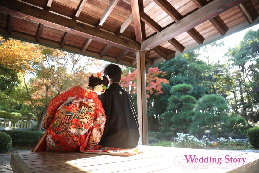 Wedding Story新東京店の和装ロケーションプランで前撮りされた新郎・新婦様