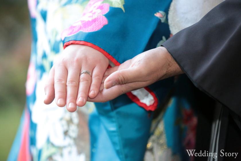 Wedding Story新東京店の和洋装ロケーションプランで前撮りされた新郎・新婦様