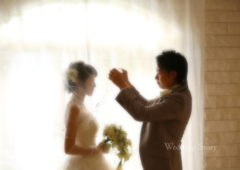 Wedding Story松戸店の洋装スタジオプランの撮影です。