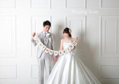 東京近郊にあるWedding Story新東京店で洋装スタジオプランの撮影をされた新郎・新婦様