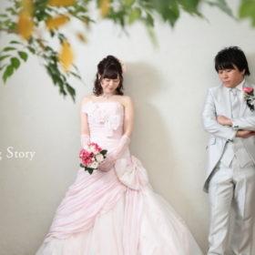 東京近郊にあるWedding Story新東京店で和洋装スタジオプランの撮影をされた新郎・新婦様