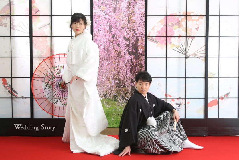 東京近郊にあるWedding Story新東京店で和装スタジオプランの撮影をされた新郎・新婦様