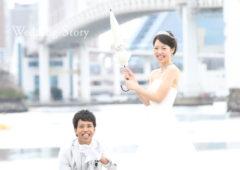 東京近郊にあるWedding Story新東京店で洋装ロケーションプランの撮影をされた新郎・新婦様