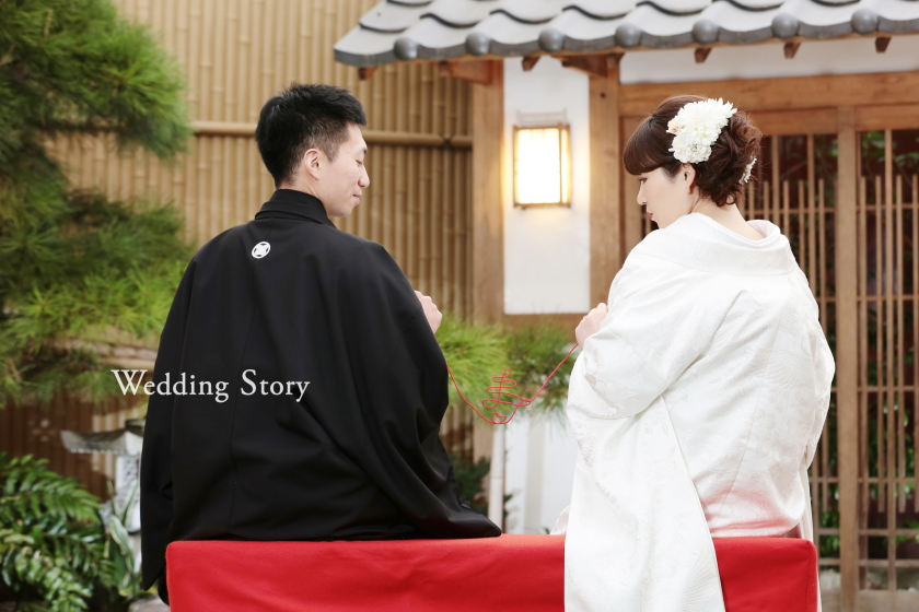 東京近郊にあるWedding Story新東京店で和装ロケーションプランの撮影をされた新郎・新婦様