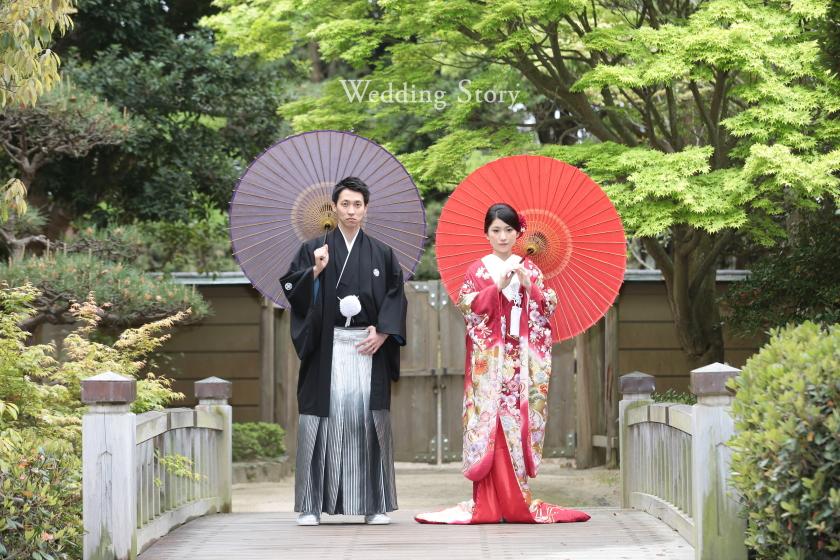 Wedding Story新東京店で和装ロケーションプランの撮影をされた新郎・新婦様