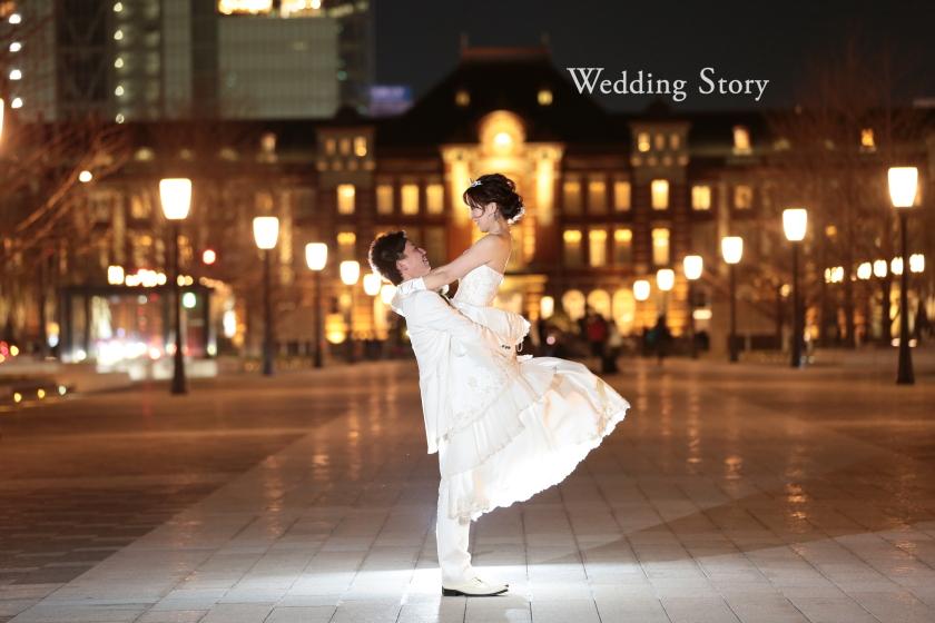 東京近郊にあるWedding Story新東京店で和洋装ロケーションプランの撮影をされた新郎・新婦様