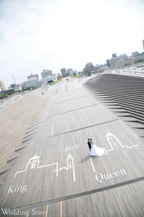 大さん橋はフォトウェディングに人気のロケ地