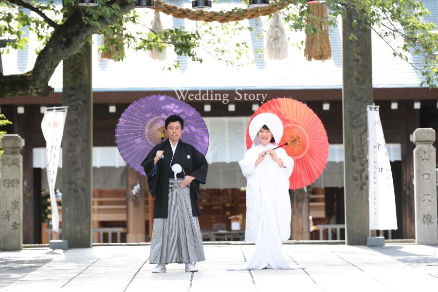 伊勢山皇大神宮での前撮りは厳かな白無垢で