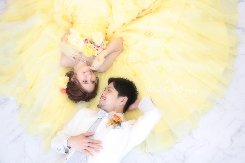 Wedding Story市川店で洋装スタジオ&ファミリープランの撮影をされた新郎・新婦様