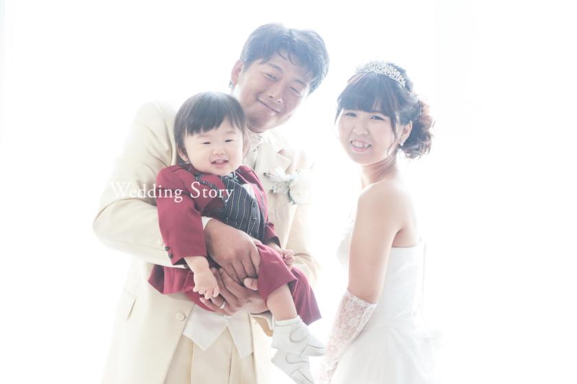 Wedding Story市川店で和洋装スタジオ&ファミリープランの撮影をされた新郎・新婦様