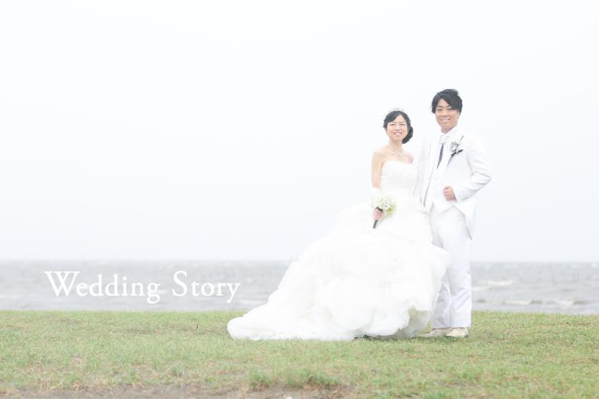 Wedding Story市川店で洋装ロケーションプランの撮影をされた新郎・新婦様