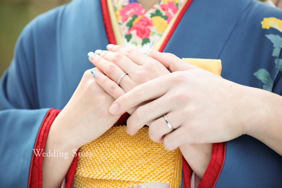 結婚指輪をメインにしたウェディングフォト