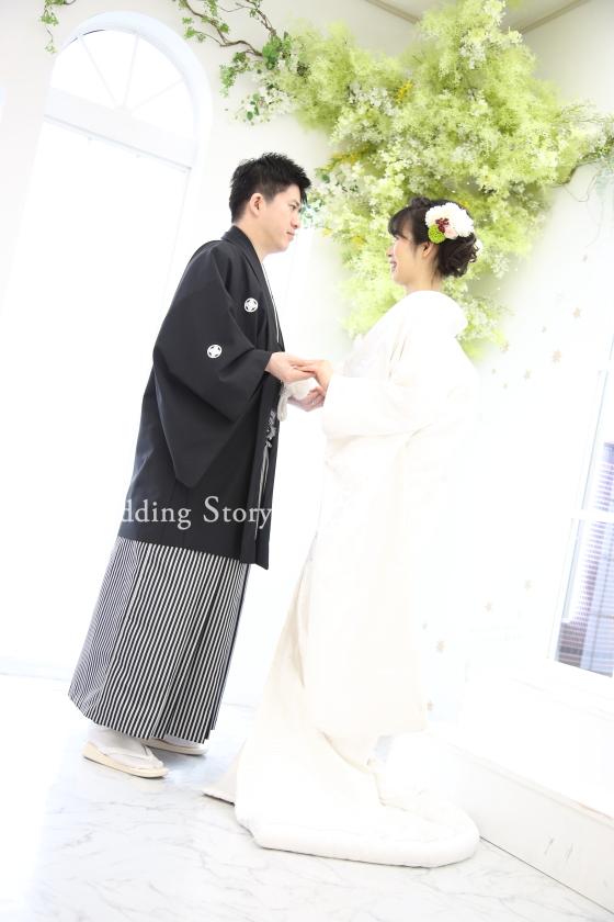 Wedding Story市川店で和装スタジオプランの撮影をされた新郎・新婦様