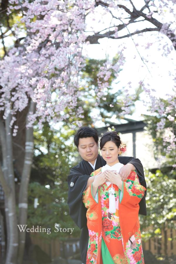 しだれ桜が美しい和装ロケーション